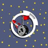 Концепция ракеты успеха Стоковые Фото