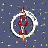 Концепция ракеты Multitasking Стоковые Изображения