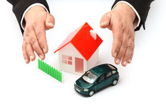 Концепция реальной собственности или страхования Стоковая Фотография RF
