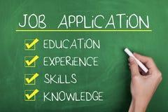 Концепция рекрутства занятости заявления о приеме на работу Стоковая Фотография RF