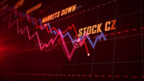 Концепция рецессии и кризиса иллюстрация штока