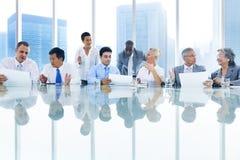 Концепция решения обсуждения деловой встречи стоковое фото rf