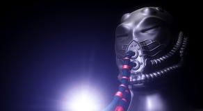 Концепция робота чужеземца Стоковые Изображения