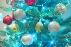 Концепция рождества украшает красным шариком Стоковая Фотография RF