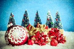 Концепция рождества зимы стоковые изображения