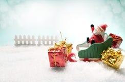 Концепция рождества и зимы Стоковая Фотография