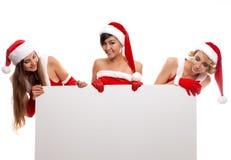 Концепция 3 рождества, x-mas, людей, рекламы и продажи Стоковые Фото