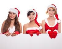 Концепция 3 рождества, x-mas, людей, рекламы и продажи Стоковое Изображение