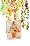 Концепция рождественской елки кнопки Стоковые Изображения RF
