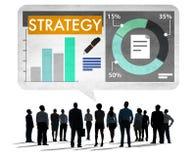 Концепция роста конкуренции дела стратегии Стоковое Фото