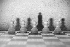Концепция руководителя шахмат Стоковые Изображения
