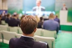 Концепция руководства деловой встречи конференц-зала Стоковые Фотографии RF