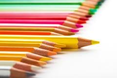 концепция руководства при один карандаш стоя из толпы othe Стоковое фото RF