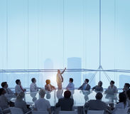 Концепция руководства деловой встречи конференц-зала Стоковое Изображение RF