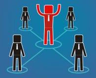 Концепция руководства - работники подчиненный руководитель Стоковая Фотография