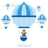 Концепция руководства с воздушным шаром и телескопом Стоковое Изображение RF