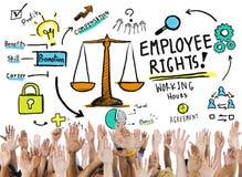 Концепция рук работы равности занятости прав работника добровольная Стоковое Изображение RF