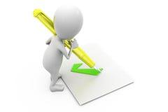 концепция ручки права человека 3d Стоковые Фото