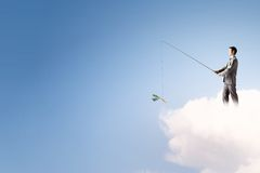 Концепция рыбной ловли стоковые изображения rf
