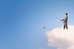 Концепция рыбной ловли стоковые фотографии rf
