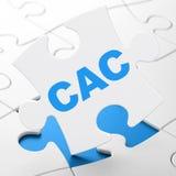 Концепция рыночных индексов фондовой биржи: CAC на предпосылке головоломки Стоковая Фотография