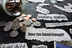 Концепция сбережений выхода на пенсию стоковое фото rf