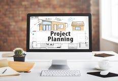 Концепция светокопии дизайна конструкции планирования проекта Стоковые Фото