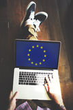 Концепция свободы культуры национальности флага страны Европейского союза Стоковые Изображения