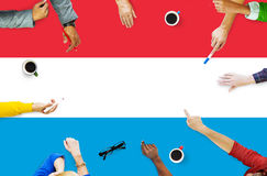 Концепция свободы свободы правительства национального флага Люксембурга Стоковое Фото