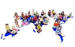 Концепция связи общины этничности детей детей Стоковая Фотография