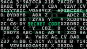 Концепция секретного кода иллюстрация вектора