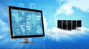 Концепция сервера облака интернета Стоковая Фотография RF