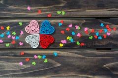 Концепция сердец дня валентинок Стоковое фото RF