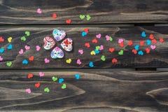 Концепция сердец дня валентинок Стоковые Изображения RF