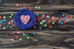 Концепция сердец дня валентинок Стоковая Фотография