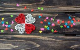 Концепция сердец дня валентинок Стоковая Фотография RF