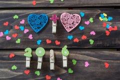 Концепция сердец дня валентинок Стоковые Изображения