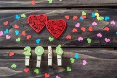Концепция сердец дня валентинок Стоковое Изображение
