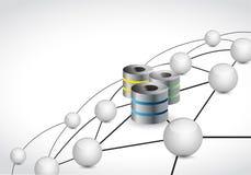 концепция сетевого подключения сферы связи серверов Стоковое Фото