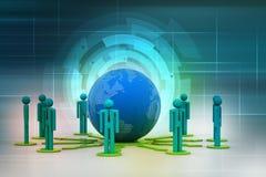 Концепция сети глобального бизнеса Стоковое Фото