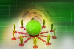 Концепция сети глобального бизнеса Стоковое фото RF