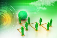 Концепция сети глобального бизнеса Стоковые Фотографии RF