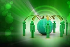 Концепция сети глобального бизнеса Стоковое Изображение RF