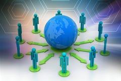 Концепция сети глобального бизнеса Стоковые Изображения