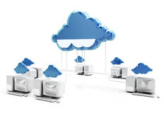 Концепция сети и облака вычисляя Иллюстрация штока