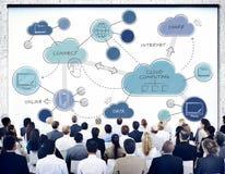 Концепция сети облака вычисляя соединяясь Стоковое Фото