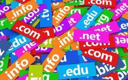 Концепция сети доменных имен Стоковые Изображения RF