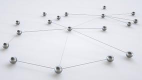 Концепция сети - перевода 3D Иллюстрация вектора