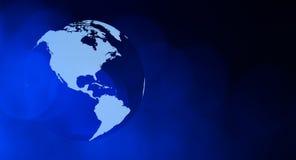 Концепция сети предпосылки глобуса мира Стоковые Изображения RF