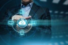 Концепция сети хранения интернета вычислительной технологии облака стоковое фото